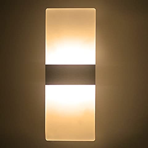 LED Wall Light 6W Warm White Modern Acrylic Wall Lamp White Wall Sconce Lights Night Lights Perfect For Living Room Bedroom Corridor Stairs Bathroom Indoor Lighting