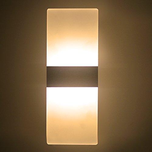 NetBoat 6W LED Wandleuchte Wandlampe,Acryl Wandleuchte LED Up Down Wandleuchte Wohnzimmer Schlafzimmer Lichter Lampen Korridor Wandbeleuchtung Nachtlicht,Warmweiß