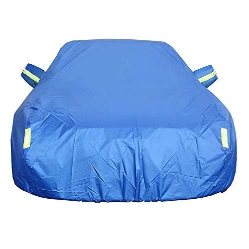 MUCC Autoabdeckung wasserdicht atmungsaktiv, geeignet für Hyundai All-New Santa Fe Anti-UV Plus Baumwollverdickung (Color : Blue, Size : Standard Edition) - Santa Räder Fe