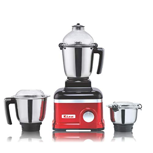 Rico Mixer Grinder 750 Watt 3 Unbreakable Jar Japanese Technology 2 Year Replacement Warranty