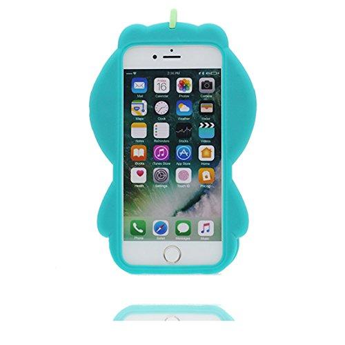 """Hülle iPhone 6s Plus Cover 3D Cartoon Bär Honey, TPU Flexible Durable Shock Dust Resistant iPhone 6 Plus Handyhülle 5.5"""", iPhone 6S Plus case 5.5"""" blau"""