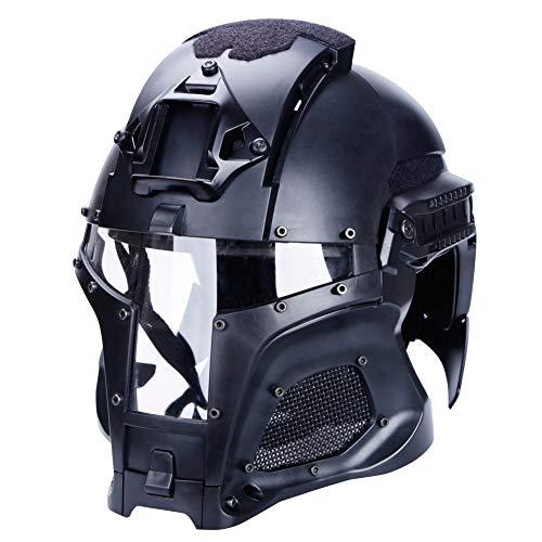 Casco táctico Cara Completa Malla Gafas Gafas de Aire Paintball Máscara CS Actividades al Aire Libre Protección Militar Película Casco rápido