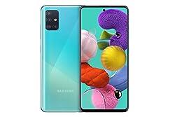 Samsung Galaxy A51 (16.4cm (6.5 Zoll) 128 GB interner Speicher, 4 GB RAM, Dual SIM, Android, prism crush blue) Deutsche Version