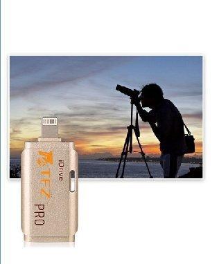 [Apple MFi Zertifiziert] TFZ i Flash-Laufwerk HD iPhone Dual Anschluss Kartenleser Memory Stick Erweiterung USB Stick für iPhone 7/5S / 6 / 6S / Plus iPad 4 Air Mini Mini2 iPod mit App i-easy-Laufwerk Rosegold
