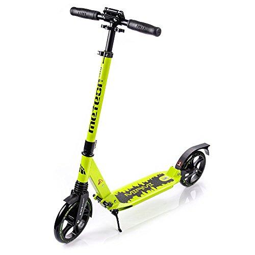 Scooter plegable ruedas grandes 200 mm patinete Niños y Adultos Muy Duradera - hasta 100 kg Patinete de aluminio de alta calidad dos amortiguadores MIAMI