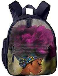 The Fashionable African Woman Toddler Kids Pre School Bag Cute 3D Print Children School Backpack