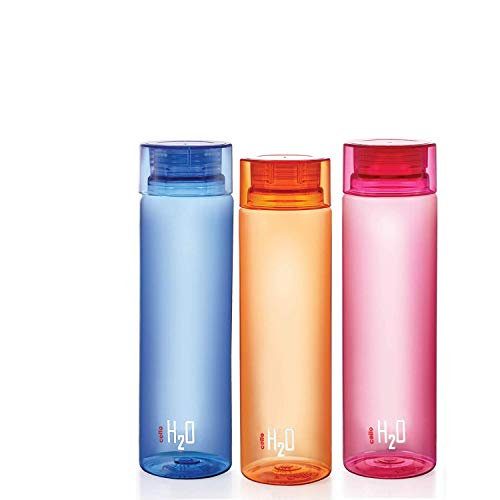 Cello H2O Bottle , 1 Litre, Set of 3, Colour May Vary