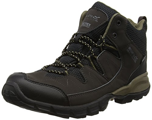 Nubuk Upper Casual Stiefel (Regatta Holcombe Mid, Men's High Rise Hiking Shoes, Black (Peat/Antique), 11 UK (46 EU))