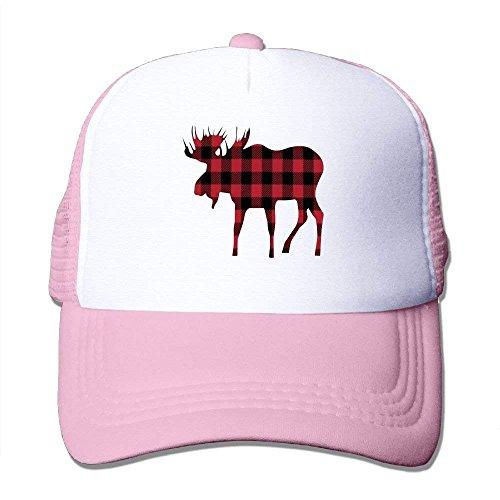 Miedhki Buffalo Plaid Moose Lumberjack Style Mesh Trucker Caps/Hats Adjustable for Unisex C9 - Buffalo Fitted T-shirt