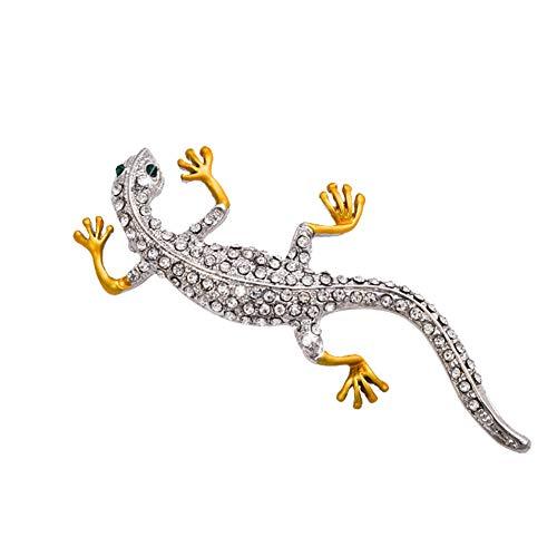 JoyFan Lizard Brooch Gecko Brooches Womens Pin Vintage Animal Badge Corsage Wedding Decor Jewelry Gifts