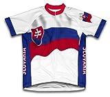 slovaquie Drapeau à manches courtes Maillot de cyclisme pour femme Large Blanc - blanc