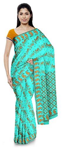 Neelam Sarees Women's Pure Banarasi Silk Saree (Green)