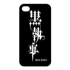 LeonardCustom- Kuroshitsuji Black Butler Slim Fit TPU Rubber Cover for iPhone 4 / 4S Case -LCI4U295