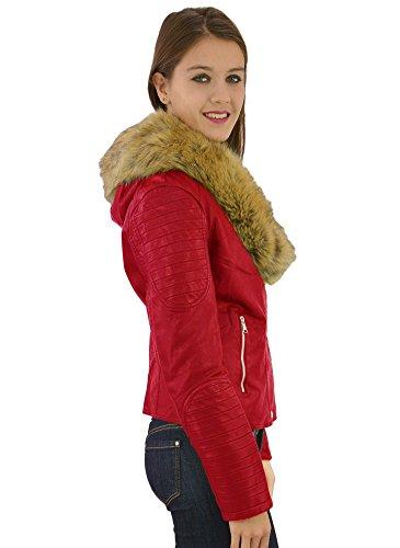 Perfecto Fourrure Rouge Rouge