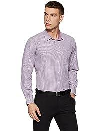 Amazon Brand - Symbol Men's Checkered Regular Fit Formal Shirt