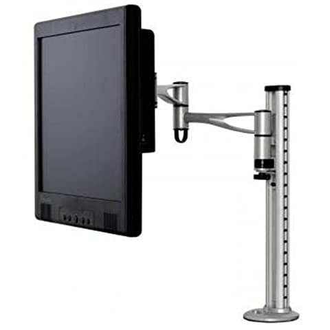 Adjustable Twin Arm Desktop Mount for LCD