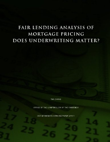 Fair Lending Analysis of Mortgage Pricing: Does Underwriting Matter?