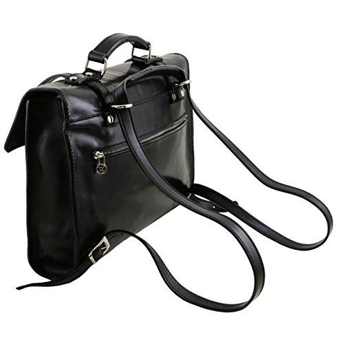 Tuscany Leather Viareggio - Exklusive Laptop Aktentsche aus Leder mit 3 Fächer Dunkelbraun Lederaktentaschen Dunkelbraun