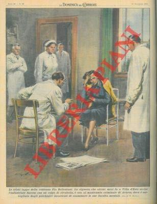 La contessa Pia Bellentani, che aveva ucciso l'industriale Sacchi, e ora al manicomio criminale di Aversa.