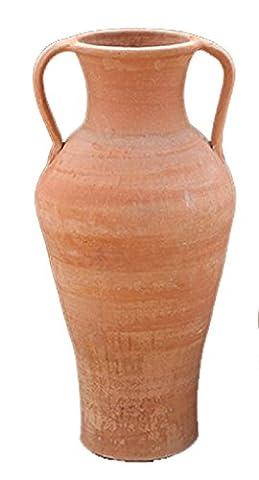 Cretan handmade terracotta amphora pot with handles - for water, wine , vase or decoration -