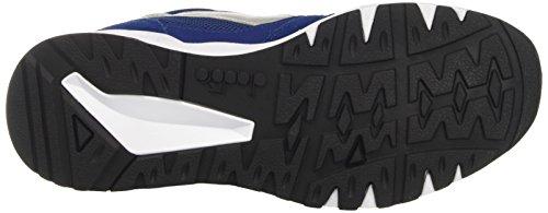 Diadora Run 90, Sneaker Bas du Cou Mixte Adulte Bleu (Blu Estate/rosso Fiamma)