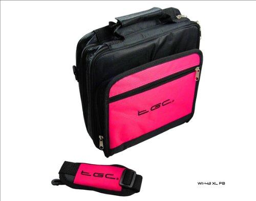 New Hot Pink und Schwarz Twin Fach Deluxe Tragetasche für das Dell Streak 7Tablet