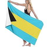 NZYH Toallas de baño Paños de Lavado para el hogar, Hotel, SPA, Gimnasio de Playa - Bahamas Flag Sea Blue Towels, Ducha Ultra Suave y Toalla de baño Toalla de baño Ultra Absorbente de Gran tamaño