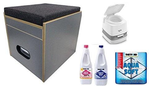 Preisvergleich Produktbild Toiletten Hocker Porta Potti 345 Komplett Set mit Toielette und Zubehör