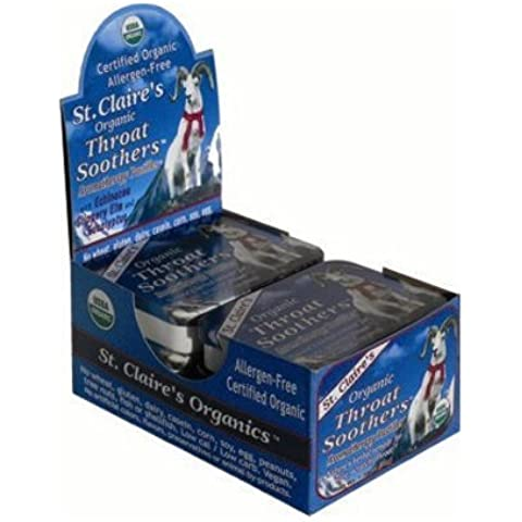 St Claire's Display Cntr Organic Throat Smthr - Case of 6 - 1.38 oz by St Claire's