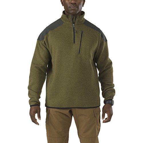 5.11 Uomo Tactical 1/4 Zip Sweater Field Verde taglia L