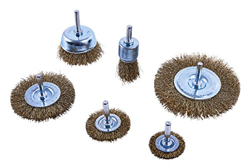 Am-Tech 6 Stück Wire Wheel Brush Set, F3500 (Type Wire Wheel Brush)