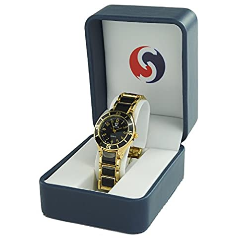 Sopily - Montre analogique Femme - bracelet métal doré cadran
