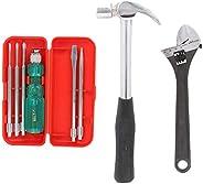 Suzec Johnson Advance Home Kit 5-Pieces Screwdriver Kit (Multicolour) & Adjustable Wrench (200 mm) & C