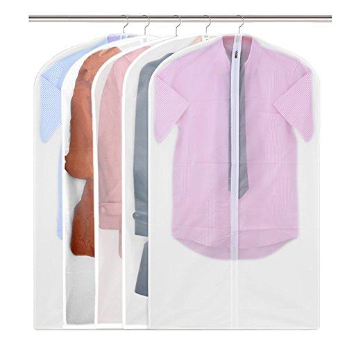 *90cm Wasserdicht Klar Durchschauen Kleidung Lagerung Hängetasche Taschen Kleiderschutzhülle Kleidung Staubschutz Reißverschluss für Anzug, Kleider, Oberteile, Mäntel, Jacken, Röcke Lagerung oder Reise - Transparent (Flug Anzug)
