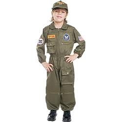 Dress Up America 487-L - Pilota dell'Aeronautica Militare, L, 12-14 Anni, Multicolore