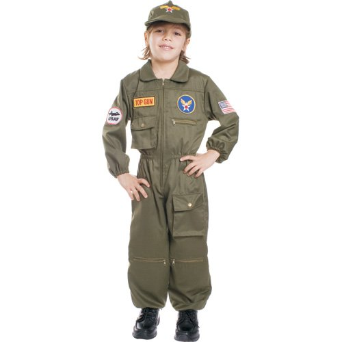 Dress Up America 487-T4 - Pilota dell'Aeronautica Militare Bambini 3-4 Anni, Multicolore