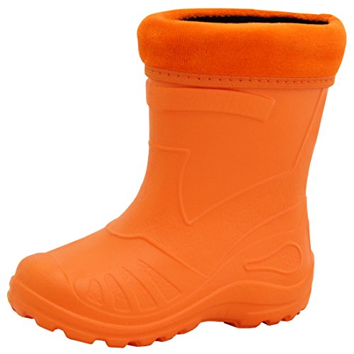 Regenstiefel Gummistiefel Kinderstiefel Kinder superleicht gefüttert 11 Farben NEU Orange