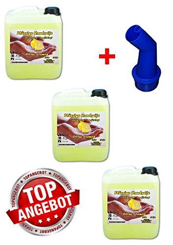 3x 10 L Cremeseife Handseife Lemon Flüssigseife extra mild Seifenspender
