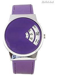Softech hombres '' s diseñador reloj Retro Salto hora disco pantalla violeta correa de tiempo