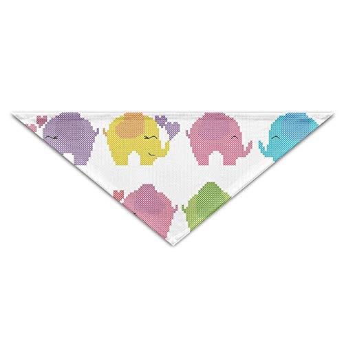 Gorgeous Socks Nettes reizendes Elefant-Baby mit Liebes- und Wasser-Faser-Haustier-Schal-Zusätzen 100% justierbar für alle sortierten Hundekatzen-Haustiere