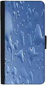 Snoogg Blue Drops Background Gkbhvjyd Graphic Snap On Hard Back Leather + Pc ...