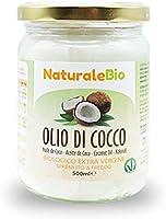 Olio di Cocco Biologico Extra Vergine 500 ml. Crudo e Spremuto a Freddo. Organico e Puro al 100%. Ideale sui Capelli,...