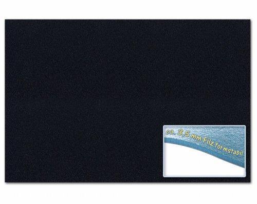 Folia 510390 - Bastelfilz 30 x 45 cm, ca. 3,5 mm, 1 Bogen, schwarz
