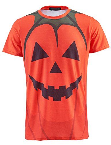 Funny World Herren Kürbis Halloween T-Shirt (XXL, -
