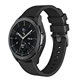 NotoCity Armband Kompatibel Samsung Galaxy Watch (42mm) Ersatz Silikon Uhrenarmband für Gear S2 Classic R732/Gear Sport Watch/Garmin Vivoactive 3
