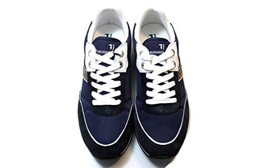 TRUSSARDI JEANS by Trussardi , Chaussures de sport d'extérieur pour homme bleu bleu profond/blanc 41 EU bleu profond/blanc