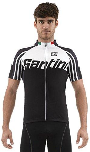 Santini Zest Full Zip Short Sleeve Jersey–SP schwarz