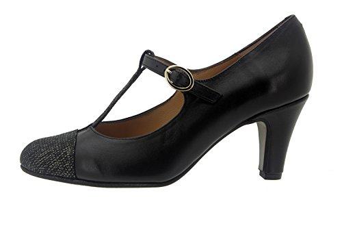 Scarpe donna comfort pelle Piesanto 7208 mary jean da sera comfort larghezza speciale Carbon