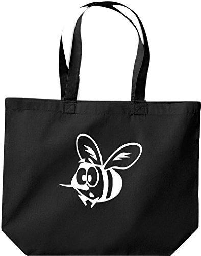 grande borsa della spesa, SHOPPER FUNNY Animale Ape Nero