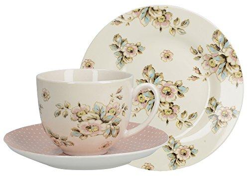 Creative Tops Tasse boite, Soucoupe Assiette petit de Porcelaine Fine Katie Alice Cottage Flower Afternoon Tea Ȉ Cadeau
